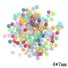 Jewelry Accessories Small Flowers Water Beads 300pcs/lot Transparent color Plastic Ball Hole Beads For Kids DIY Jewelry Making