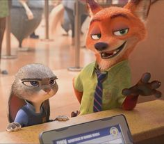 Here is a cropped shot of Nick Wilde and Judy Hopps from the upcoming movie Zootopia. Zootopia-NickWilde and Judy Hopps 1 Zootopia Characters, Zootopia Art, Disney Cartoon Characters, Disney And Dreamworks, Nick Wilde, Disney Zootropolis, Cute Disney, Disney Magic, Judy Hops