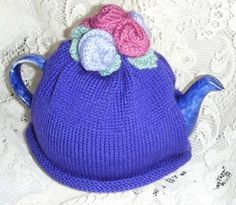 ROSES TEA COSY Hand Knitting Pattern Easy by TeaCosiesandBlankets