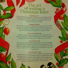Good tips for Christmas letters. Stationary templates available at BHG.com/letter