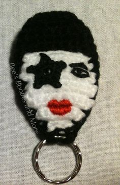 This Bee's Honey: Guitar Pick Holder Keychain- FREE Crochet Pattern! The guitar pick holder pattern is free but there isn't one (that I can find anyway) for the Paul Stanley. Crochet Music, Free Crochet, Knit Crochet, Kiss Band, Guitar Picks, Yarn Crafts, Crochet Patterns, Crochet Ideas, Bee