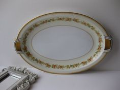 Vintage Royal Embassy Bristol Floral Serving by thechinagirl