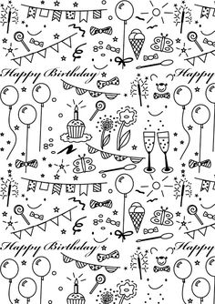 papier de coloriage imprimable d& gratuit - ausdruckbares Geschenkpapi . - papier à colorier imprimable d& gratuit – ausdruckbares Geschenkpapier – toast - Free Printable Planner Stickers, Printable Paper, Free Printables, Bulletins, Doodle Lettering, Sketch Notes, Doodle Drawings, Colored Paper, Bullet Journal Inspiration