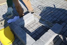 Creating your own paver patio requires one thing - you. See how you can build a perfectly sized paver patio with a built in fire pit. Paver Fire Pit, Fire Pits, Fire Pit Materials, Types Of Fire, Pizza And More, Backyard Fireplace, Backyard Kitchen, Fire Pit Designs, Outdoor Entertaining