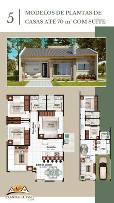 Home Decoration With Flowers Product 2 Bedroom House Plans, My House Plans, Modern House Plans, Small House Plans, House Floor Plans, Modern Small House Design, Small Modern Home, Dream Home Design, Home Design Plans