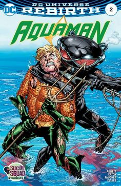 """Aquaman """"THE DROWNING"""" Chapter Two br /br /In issue unity between land and sea is Arthur Curry's greatest dream. But Black Manta has a dream too: to destroy everything Aquaman stands for, starting with the sea king's Atlantean embassy and everyone in it. Arte Dc Comics, Marvel Comics, New 52, Noragami, Comic Book Covers, Comic Books Art, Comic Art, Action Comics, Black Manta"""