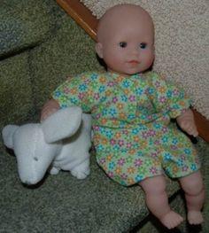 Small Baby Dolls Bodysuit - Very easy to sew
