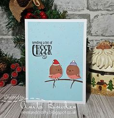 Hi there     Another Christmas card for you! This one was made for a friend to give to my brother and sister-in-law. They love nature, pa...