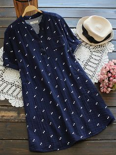 Vintage Casual Shirts And Mexican Blouses For Women Mobile Cheap Blouses, Blouses For Women, Blouse Styles, Blouse Designs, Casual Tops, Trendy Tops, Cotton Tunic Tops, Moda Chic, V Neck Blouse