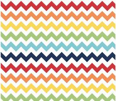 Small Chevron Rainbow  by Riley Blake Designs by Halfmoonquilts, $9.50