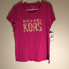 Michael Kors Metallic Pink TEe Michael Kors Metallic Imprinted Tee #125 Michael Kors Tops Tees - Short Sleeve