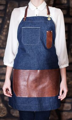 Limited Edition Denim & Reclaimed Leather Apron by AuthenticSundry