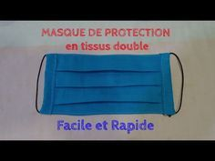 Protective mask fabric double - easy and quick to make Diy Mask, Diy Face Mask, Protective Mask, Free Sewing, Diy Clothes, Sunglasses Case, Sewing Projects, Crochet, Fabric