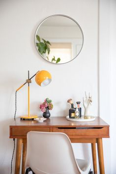 Mood Lighting: Light lingers as the days stretch longer and daylight stays with us into the evenings. But when dusk sets there is nothing quite like the glow of a task light on a desk or bedside table. For spring add a touch of color.