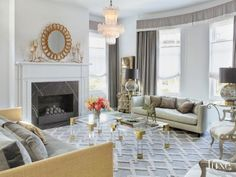 Eclectic Gray Living Area