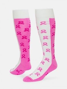 c946afa95c8 Breast Cancer Sisters Ribbon Knee High Socks by Red Lion