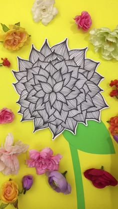 How draw a dahlia doodle drawings, doodle art, flower drawings, painting videos, Doodle Drawings, Flower Drawings, Easy Doodle Art, Doodle Art Journals, Painting & Drawing, Painting Videos, Blue Art, Art Background, Elementary Art