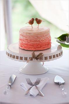 ombre pink wedding cake @weddingchicks