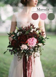 свадебный букет марсала - Поиск в Google