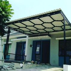 Canopy Design, Small Backyard Landscaping, Garage Design, Steel, Landscape, Instagram, Outdoor Decor, Interior, Modern