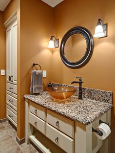 Love the sink, this is exactly what I want for my small bathroom, the color of the walls is beautiful as well