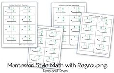 i like this set up! Montessori Math worksheet