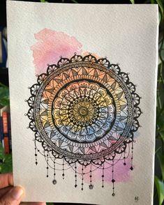 Easy Mandala Drawing, Mandala Art Lesson, Doodle Art Drawing, Mandala Artwork, Mandala Painting, Art Drawings, Mandala Sketch, Mandala Pattern, Pattern Art