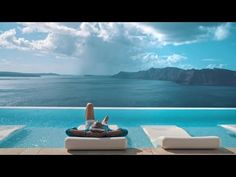 Santorini Comes Alive with the Sound of Music Canaves Oia leads the way as Santorini's most sought-after property, not only due to its impeccable form and id. Greece Hotels, Sound Of Music, Santorini, Airplane View, The Good Place, Luxury, Places, Outdoor Decor, Travel Inspiration