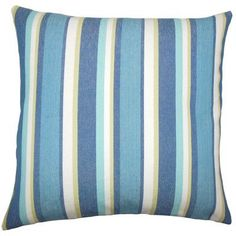 The Pillow Collection Reiki Striped Bedding Sham Size: Standard, Color: Caribbean
