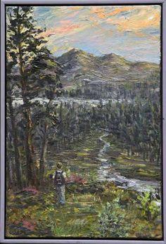 "HENRY KONDRACKI (Scottish born 1953 - ) The Freedom Of The Highlands"" Oil on canvas, signed 58.5cm x 40.5cm (23 x 16 inches) Drawing Sketches, Drawings, Highlands, Landscape Art, Oil On Canvas, Freedom, Landscapes, Painting, Liberty"