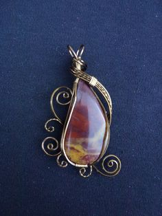 FREE SHIPPING Red Picture Jasper Pendant Necklace by EarthArtsNW, $69.99