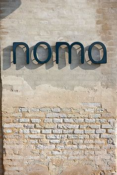 Noma Restaurant | signage | #office #signage #moderndesign http://www.ironageoffice.com/