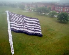 us navy sailors making the american flag