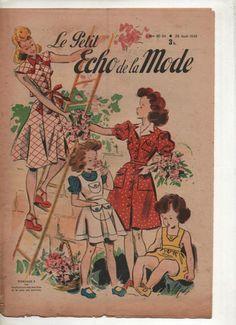 revue le petit ECHO DE LA MODE n°30-34 année 1945