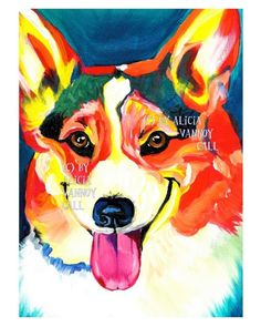 Colorful corgi