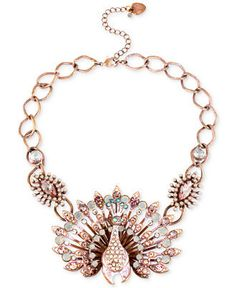 BETSEY JOHNSON Pink-Tone Patina Peacock Necklace $80 (Compare Elsewhere $95) SHIPS FREE BEST PRICES YOU WILL FIND ANYWHERE ON GENUINE LADIES DESIGNER BRANDS! FREE WORLD SHIPPING & LOCAL DELIVERY AVAILABLE AT THE SURF CITY SHOP in Huntington Beach, California Major Credit Cards Accepted