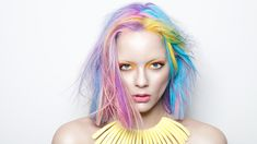 Find trending Ombre Hair Ideas for summer! Get Ombre hair how-tos and secret ombre hair colors for all blonde, brown, black-haired ladies out there! Hidden Rainbow Hair, Pastel Rainbow Hair, Pastel Hair, Kim Kardashian Ombre, Pelo Color Azul, Hidden Hair Color, Rainbow Braids, Temporary Hair Color, Afro Textured Hair