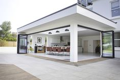 Burghfield House Best Picture For pergola patio For Your Taste You are looking for something, and it House Extension Design, Extension Designs, House Design, Roof Extension, Open Plan Kitchen Living Room, Backyard Patio Designs, Backyard House, Pool Backyard, Garden Pool