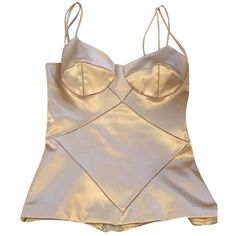 Pre-owned Dolce&gabbana Bustier Top Gold ($165) ❤ liked on Polyvore featuring tops, gold, dolce&gabbana, bustier tops, dolce gabbana top, brown tops and dolce gabbana bustier