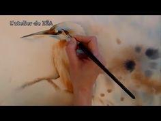 [Démonstration] Aquarelle : Martin pêcheur en technique humide - YouTube