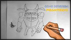 Como desenhar Megasservo (Clash Royale)