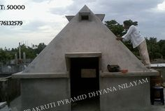 Prakruthi Pyramid Meditation Center year of construction : 2012  size : 10ft x 10ft (roof top) | capacity : 15 persons cost incurred :  50,000 | type of structure : RCC timing : 4PM-5PM, open for public use technical support : Ramakrishna contact : Srinivasa Rao, mobile : +91 96761 32579 address : S/o Koti Reddy, Nootakki village, Mangalagiri (mandal) http://www.pyramidseverywhere.org/pyramids-directory/pyramids-in-andhra-pradesh/coastal-andhra/guntur-district