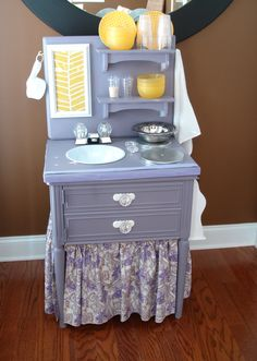 Design Dazzle: Play Kitchen Made From a Nightstand?!!