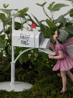 Fairy Garden Accessories Mailbox for Fairy Mail miniature newspaper - fairy…