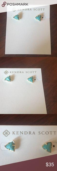 Kendra Scott Parker studs Gold turquoise studs Kendra Scott Jewelry Earrings