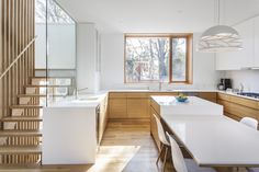Methodical rebuild transforms Toronto house into modern home - The Globe and Mail Toronto Houses, Kitchen Organization, Building Design, 1940s, Stairs, Real Estate, House Design, Architecture, Modern
