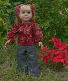 Blue Jeans and Bandanna Outfit Doll Clothes by sewlittletime2009, $15.00