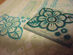 Original stamp, by Nora Clemens-Gallo