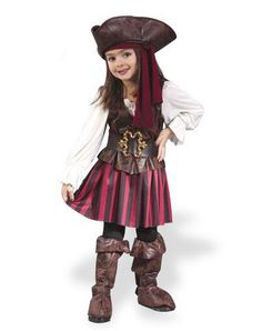 High Seas Buccaneer Girl Toddler Costume if Katie is JoJo, Fancy Nancy's little sister who loves dressing up as a pirate! ;)