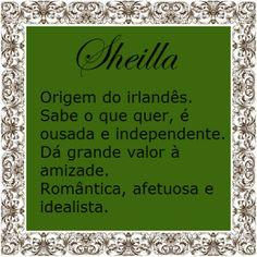 Significado do nome Sheilla | Significado dos Nomes